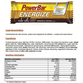 PowerBar Energize Riegel Box Cookies & Cream 25 x 55g